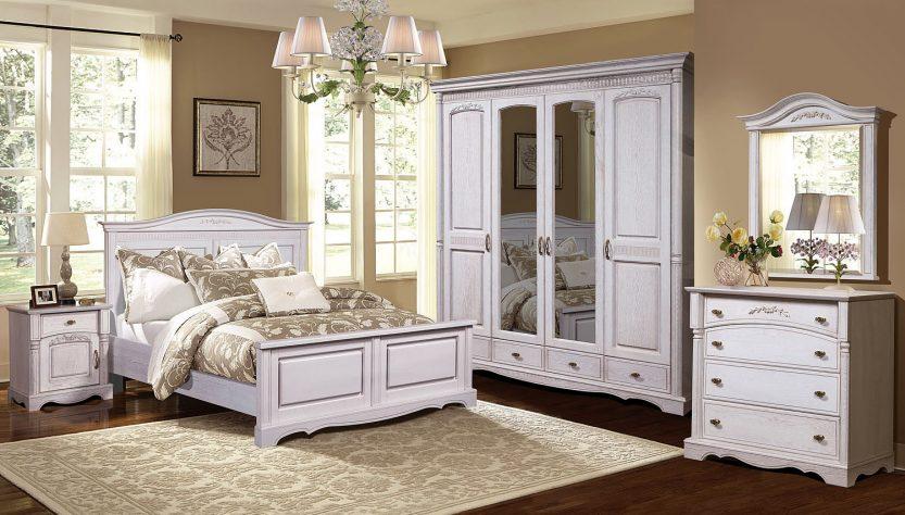 мебель белого цвета из массива дерева